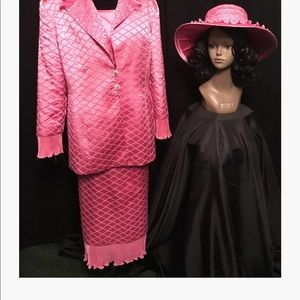 Dresses & Skirts - Fusha two piece suit with hat